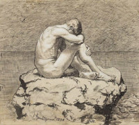Loneliness by Hans Thoma (National Museum in Warsaw).Hans Thoma [Public domain], via Wikimedia Commons