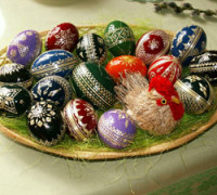 """Easter eggs - straw decoration"" by Jan Kameníček Own work. Licensed under Public Domainvia Wikimedia Commons."