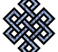 "The ""endless knot,"" symbol of eternity in Tibetan Buddhism. By en:User:Rickjpelleg, first uploaded to en.wikipedia on 20:13, 28 October 2005[Public domain], via Wikimedia Commons"